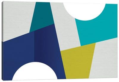 MCM Geometry Blue I Canvas Art Print