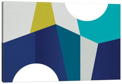 MCM Geometry Blue II Canvas Art Print
