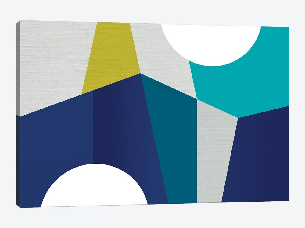 MCM Geometry Blue II by Dominique Vari 1-piece Canvas Print