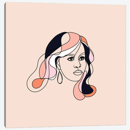 Michelle Portrait You First Square Canvas Print #DVR57} by Dominique Vari Canvas Wall Art