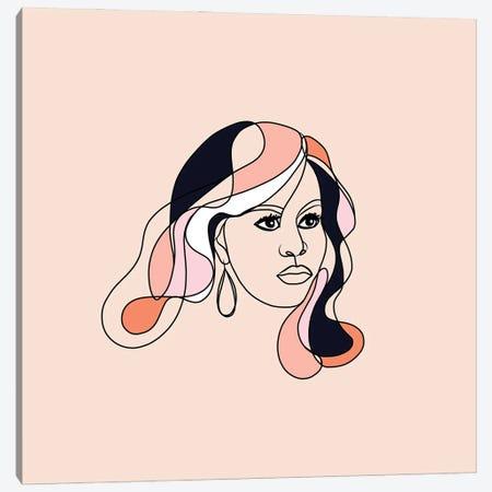 Michelle Portrait You First Square Canvas Print #DVR57} by Dominique Vari Canvas Wall Art