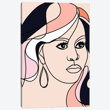 Michelle Portrait You First  Canvas Print #DVR58} by Dominique Vari Canvas Art Print