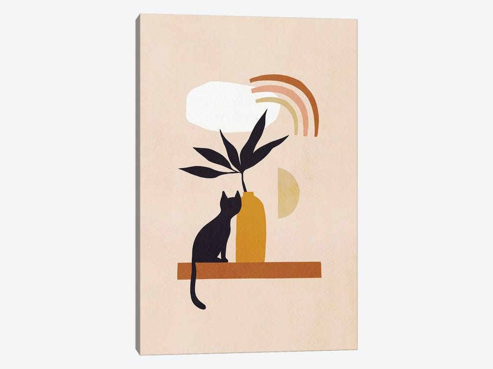 Cats And Nature II by Dominique Vari 1-piece Canvas Art Print