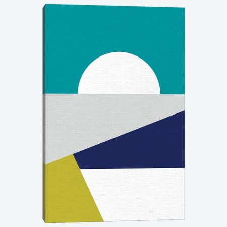 Mid Mod Geo Blue Canvas Print #DVR61} by Dominique Vari Canvas Art