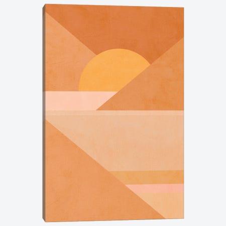 Midmod Geo II Earthy Sunset Canvas Print #DVR66} by Dominique Vari Art Print