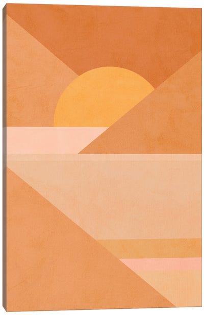 Midmod Geo II Earthy Sunset Canvas Art Print