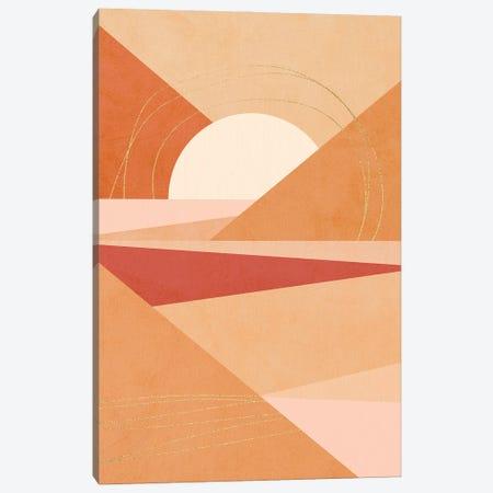 Midmod Geo IV Earthy Sunrise Canvas Print #DVR68} by Dominique Vari Canvas Wall Art