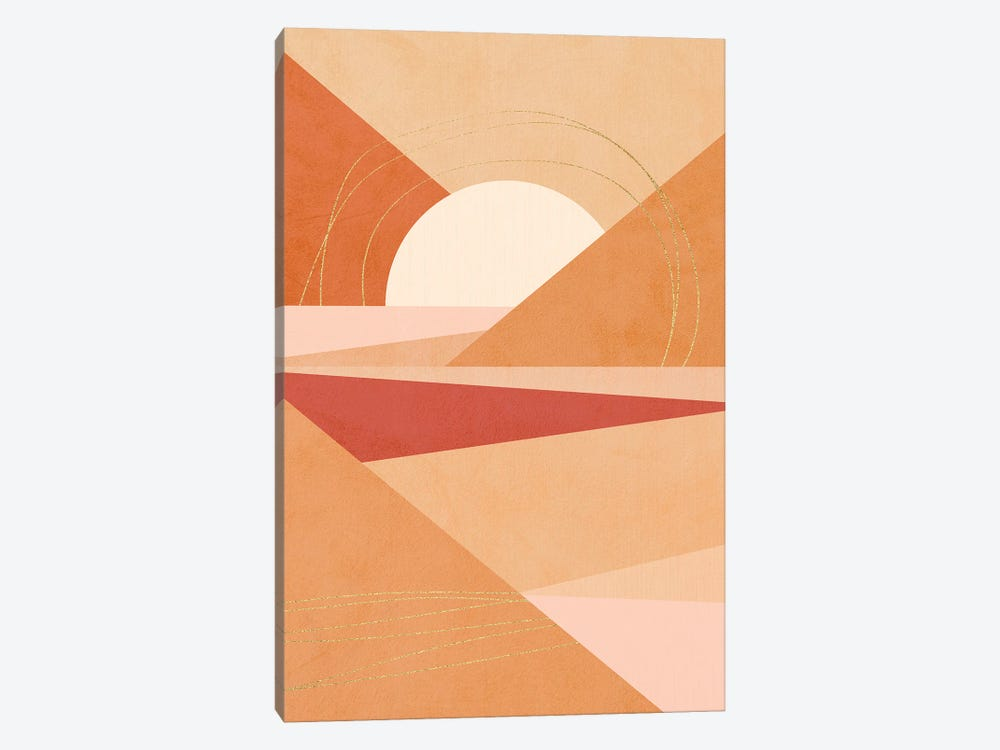 Midmod Geo IV Earthy Sunrise by Dominique Vari 1-piece Canvas Art Print