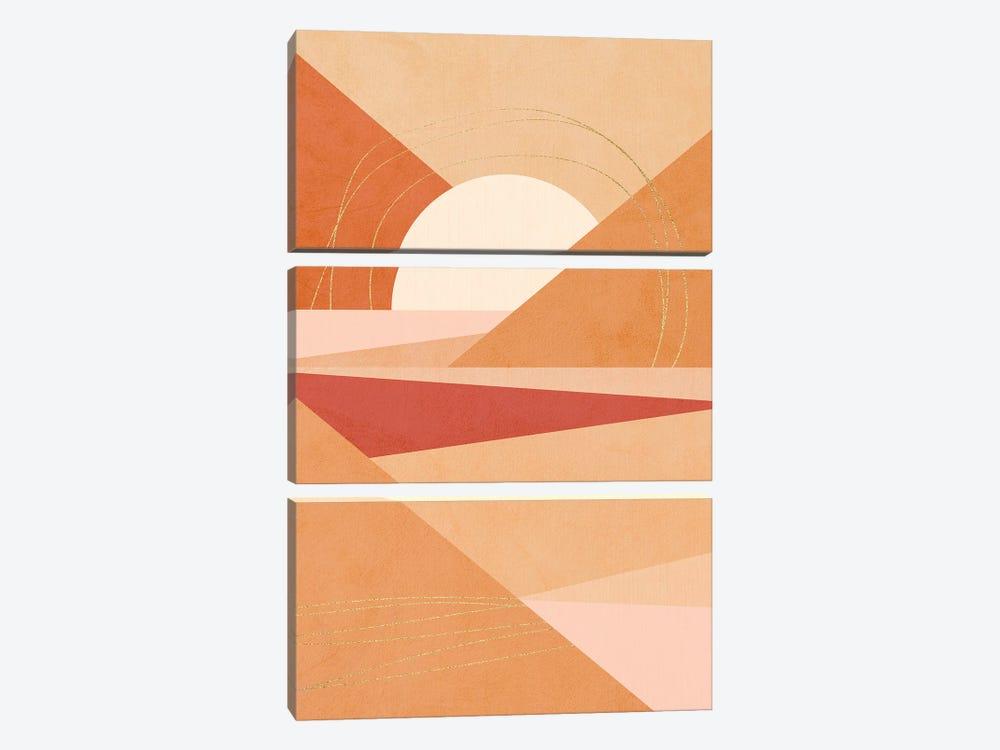 Midmod Geo IV Earthy Sunrise by Dominique Vari 3-piece Art Print