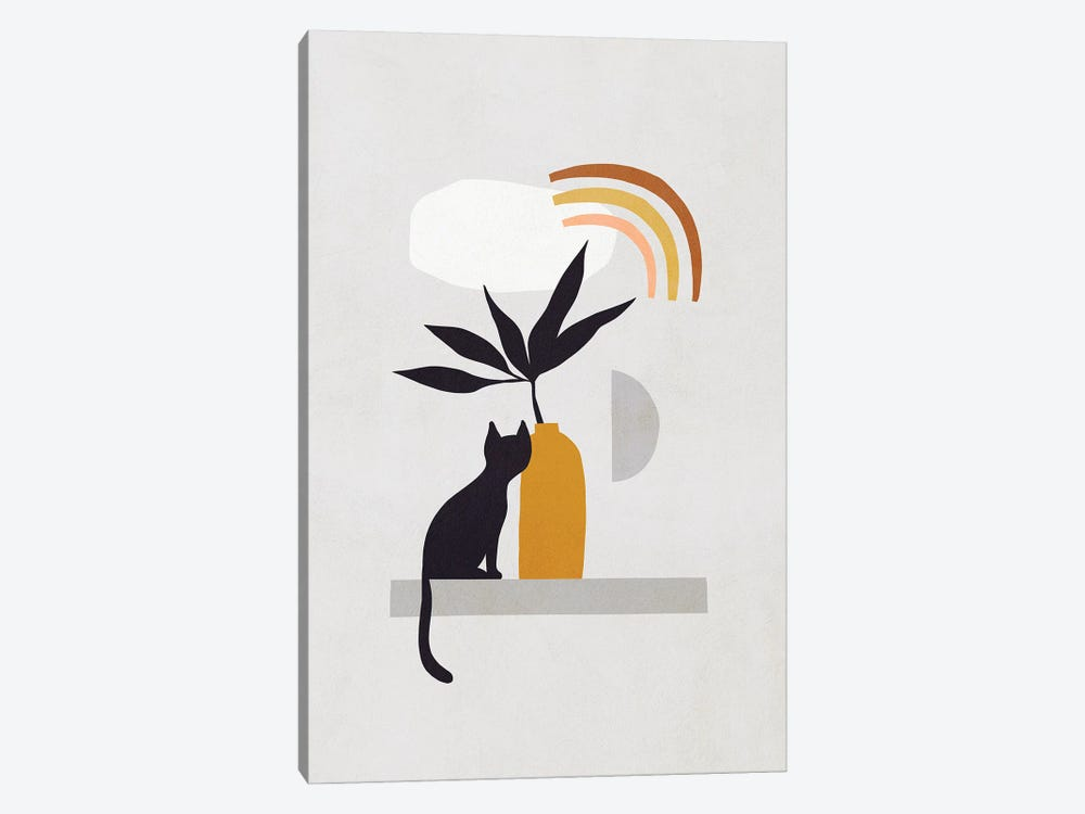 Cats And Nature IIB by Dominique Vari 1-piece Canvas Art
