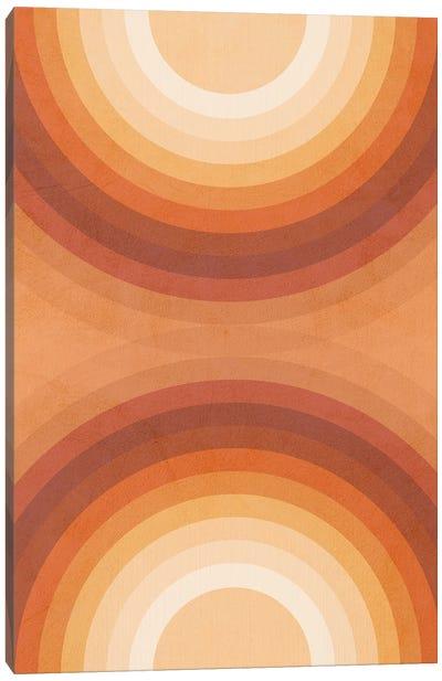Midmod Geo VII Terracotta Double Rainbows Canvas Art Print
