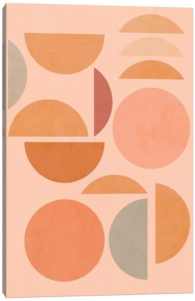 Midmod Geo VIII Peachy Sun & Moon Play Canvas Art Print