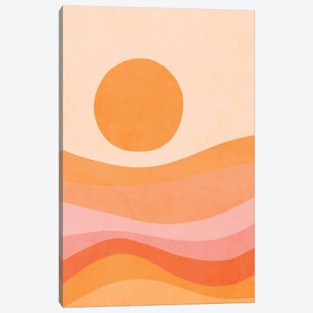 Midmod Golden Summer Sunset Canvas Print #DVR73} by Dominique Vari Canvas Art Print