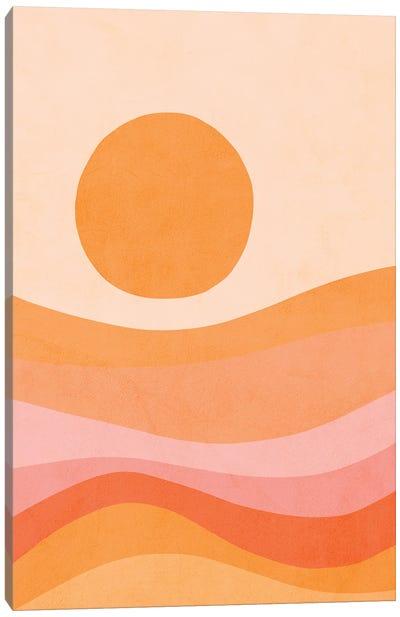 Midmod Golden Summer Sunset Canvas Art Print