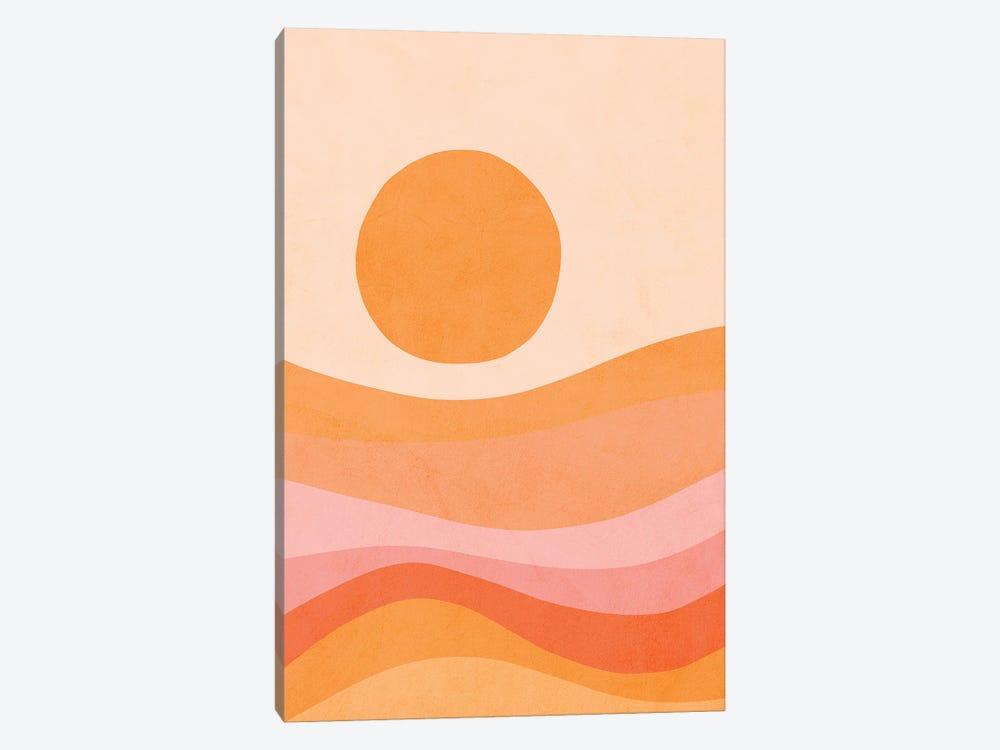 Midmod Golden Summer Sunset by Dominique Vari 1-piece Art Print