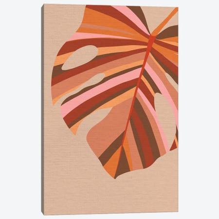 Midmod Monstera Leaf I Earthy Canvas Print #DVR74} by Dominique Vari Canvas Art