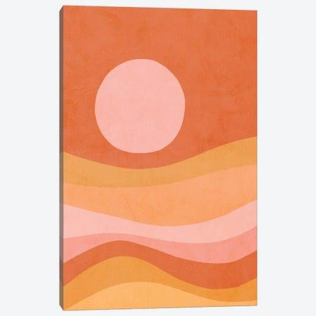 Midmod Peachy Summer Sunset Canvas Print #DVR76} by Dominique Vari Canvas Art