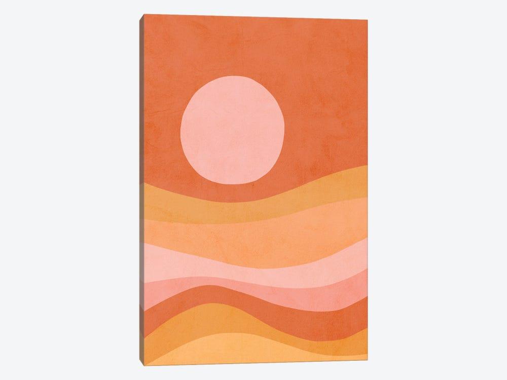 Midmod Peachy Summer Sunset by Dominique Vari 1-piece Canvas Wall Art