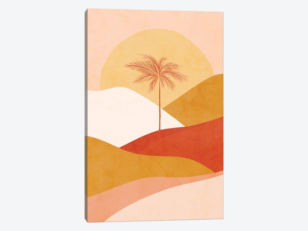 Midmod Tropical Palm Sunset 1 Peach by Dominique Vari 1-piece Art Print