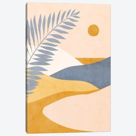 Midmod Tropical Summer II Blue Canvas Print #DVR79} by Dominique Vari Canvas Art Print