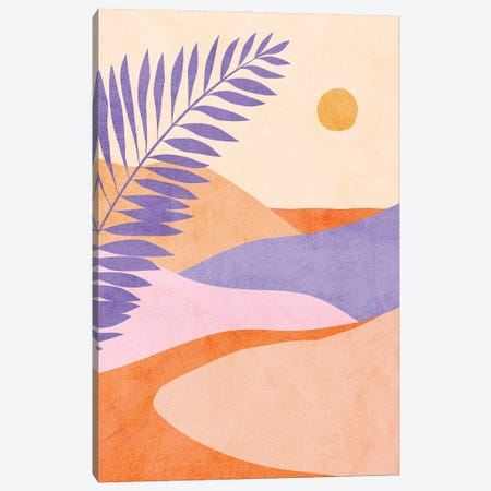 Midmod Tropical Summer IIII Lilac Canvas Print #DVR80} by Dominique Vari Canvas Wall Art