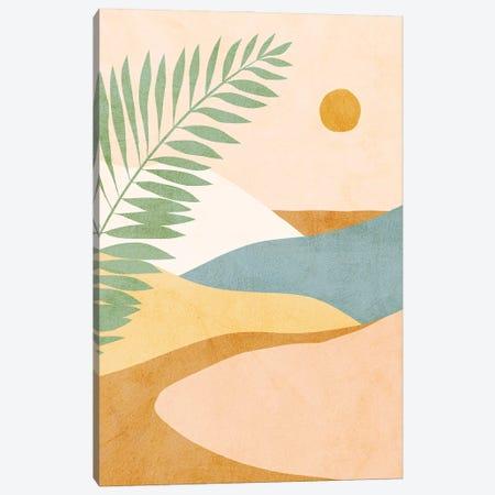 Midmod Tropical Summer IV Ochre Canvas Print #DVR81} by Dominique Vari Canvas Artwork