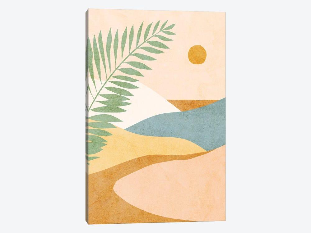 Midmod Tropical Summer IV Ochre by Dominique Vari 1-piece Canvas Wall Art
