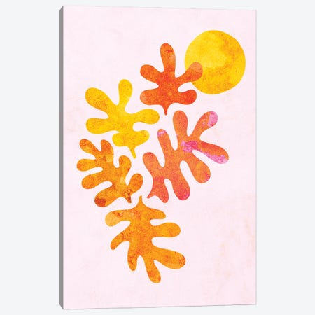 Minimal Matisse Colourful Foliage And Moon III Canvas Print #DVR82} by Dominique Vari Canvas Art