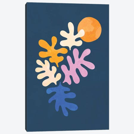 Minimal Matisse Leafy Dance Canvas Print #DVR83} by Dominique Vari Canvas Art