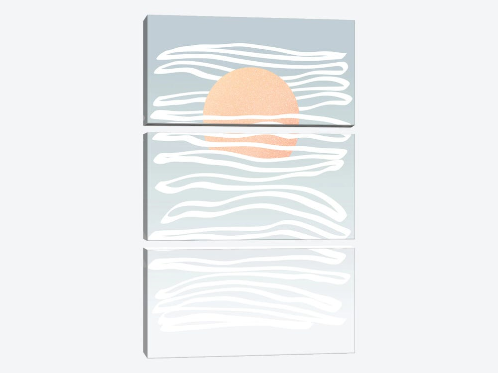 Minimal Sun Stream by Dominique Vari 3-piece Canvas Art Print