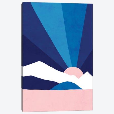 Mm Classic Blue Rainbow Landscape Canvas Print #DVR85} by Dominique Vari Art Print