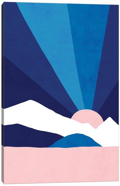 Mm Classic Blue Rainbow Landscape Canvas Art Print
