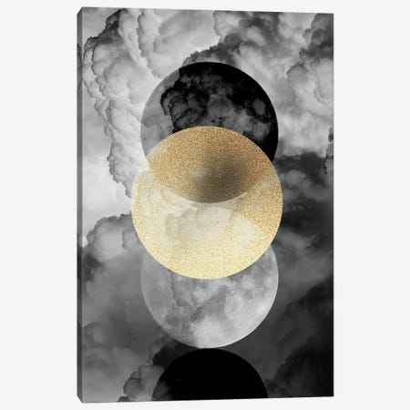 Moonphases In The Clouds Canvas Print #DVR89} by Dominique Vari Canvas Artwork