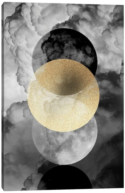 Moonphases In The Clouds Canvas Art Print