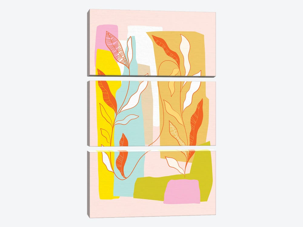 My Favourite Plant Trop IV by Dominique Vari 3-piece Canvas Wall Art