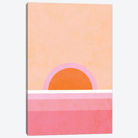 Peachy Sunrise Canvas Print #DVR93} by Dominique Vari Canvas Art Print