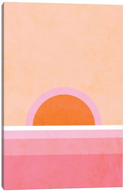 Peachy Sunrise Canvas Art Print