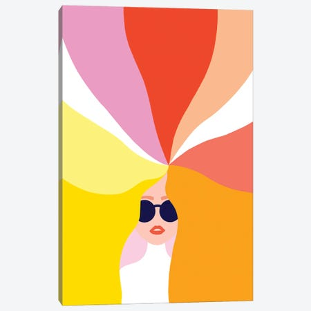 Rainbow Girl I Canvas Print #DVR97} by Dominique Vari Canvas Wall Art