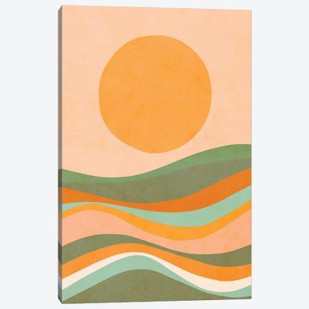Rainbow Waves Landscape Canvas Print #DVR99} by Dominique Vari Canvas Art Print
