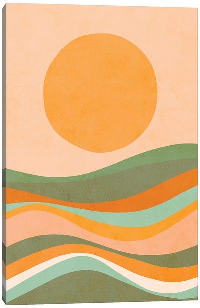 Rainbow Waves Landscape Canvas Art Print