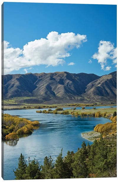Fisherman's Bend, Waitaki Valley, North Otago, South Island, New Zealand I Canvas Art Print