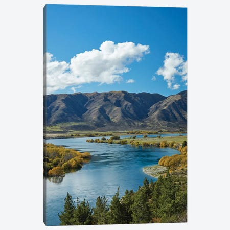 Fisherman's Bend, Waitaki Valley, North Otago, South Island, New Zealand I Canvas Print #DWA12} by David Wall Canvas Print