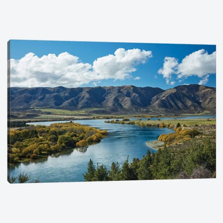 Fisherman's Bend, Waitaki Valley, North Otago, South Island, New Zealand II Canvas Print #DWA13} by David Wall Canvas Print