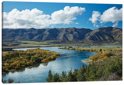 Fisherman's Bend, Waitaki Valley, North Otago, South Island, New Zealand II Canvas Art Print
