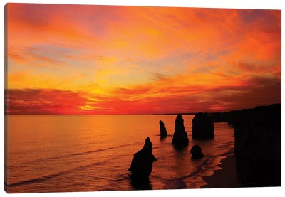 The Twelve Apostles At Sunset I, Port Campbell National Park, Victoria, Australia Canvas Print #DWA1