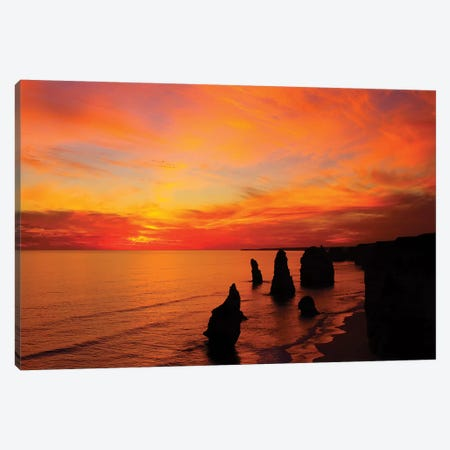 The Twelve Apostles At Sunset I, Port Campbell National Park, Victoria, Australia Canvas Print #DWA1} by David Wall Canvas Art