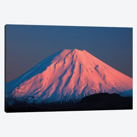 Alpenglow On Mt. Ngauruhoe At Dawn, Tongariro National Park, Central Plateau, North Island, New Zealand Canvas Print #DWA38} by David Wall Canvas Art Print
