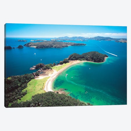 Aerial View, Bay Of Islands, Northland Region, North Island, New Zealand Canvas Print #DWA3} by David Wall Canvas Art