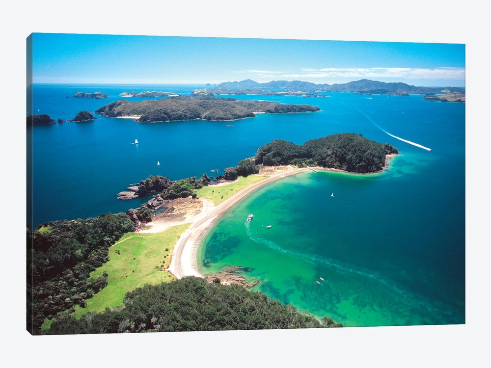 Aerial View, Bay Of Islands, Northland Region, North Island, New Zealand by David Wall 1-piece Art Print