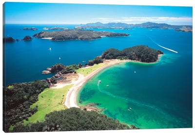 Aerial View, Bay Of Islands, Northland Region, North Island, New Zealand Canvas Art Print